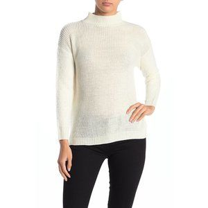 Love by Design NWT Mock Neck Fuzzy Sleeve Sweater